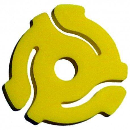 (10 Pack) TEN Yellow Plastic 45 RPM 7 Inch Vinyl Record Adaptor