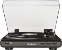 Crosley T400 Fully Automatic 2-Speed Component Turntable with Built-in Pre-amp, Gray